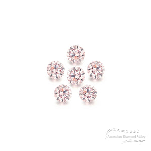 Diamond Valley Baby Daisy .03ct Authentic Australian Pink Argyle Diamond - 8P