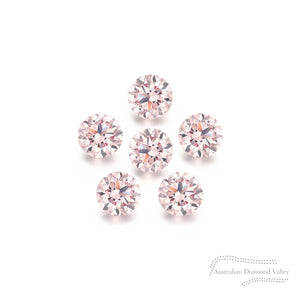 Diamond Valley Daisy .06ct Authentic Australian Pink Argyle Diamond - 8P