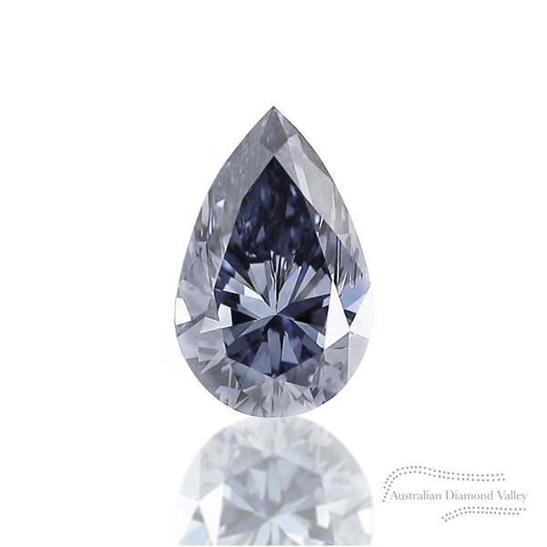 .093ct Authentic Australian Blue Argyle Pear Cut Diamond - BL2