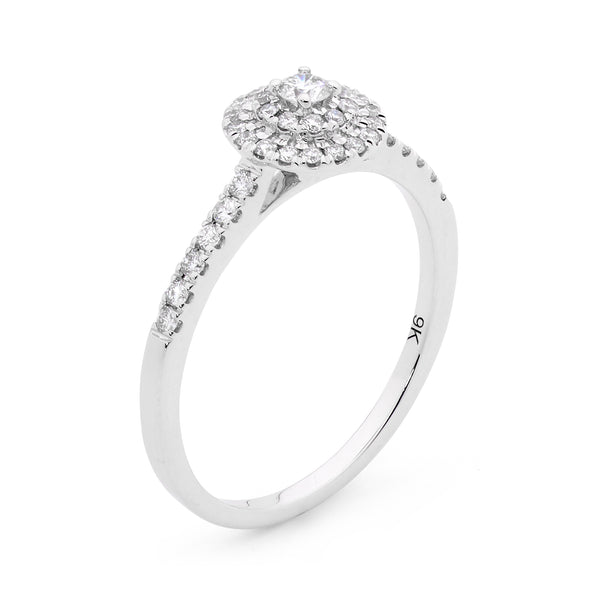 Australian Argyle White Diamond Ring