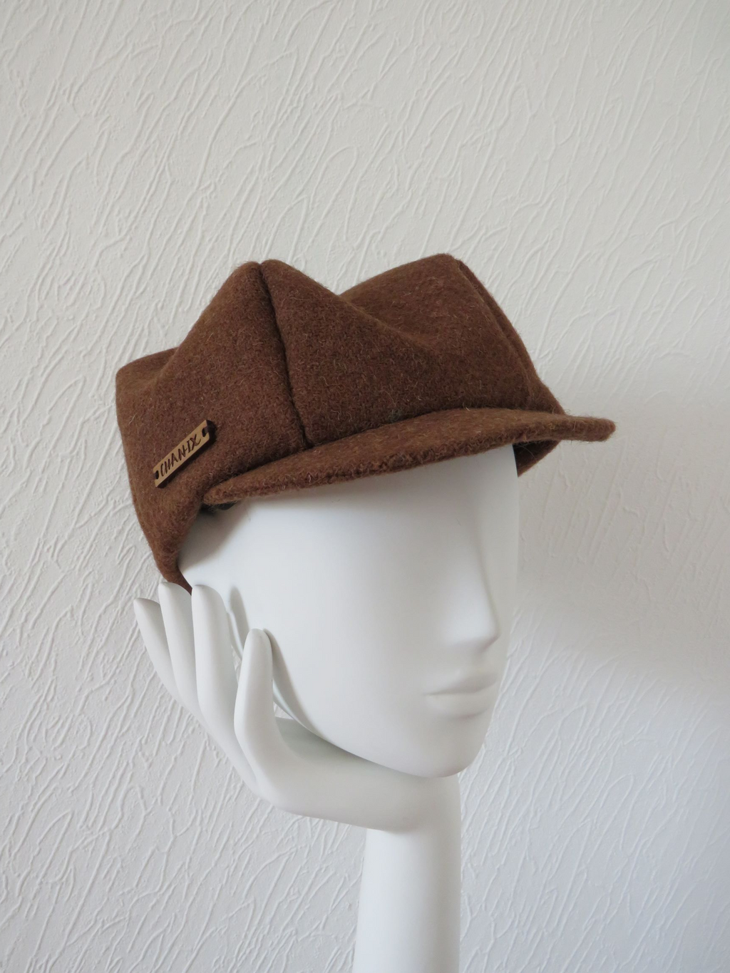 Brown Harris Tweed Baker Boy Cap