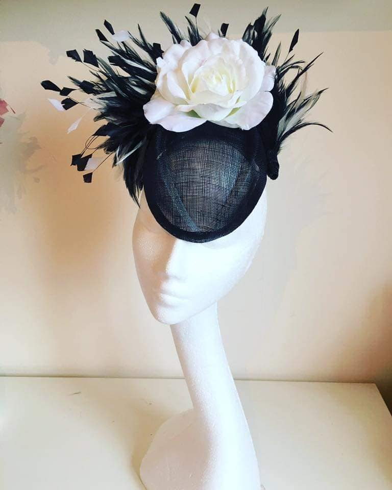 Monochrome Headpiece/ Fascinator
