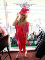 Pink and Red Hatinator/Fascinator
