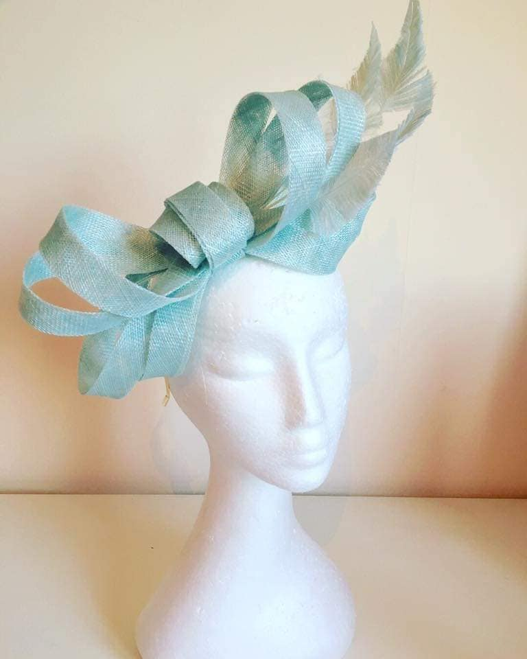 Cornflower Blue Looped Fascinator