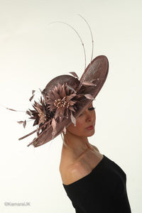 Large Rose Gold Wedding Hat