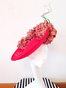 Blood Orange Upturned Saucer Hat Fascinator