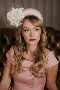 Nude Pink Halo Crown Fascinator / Headpiece