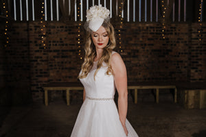 Bridal Floral Pillbox Headpiece
