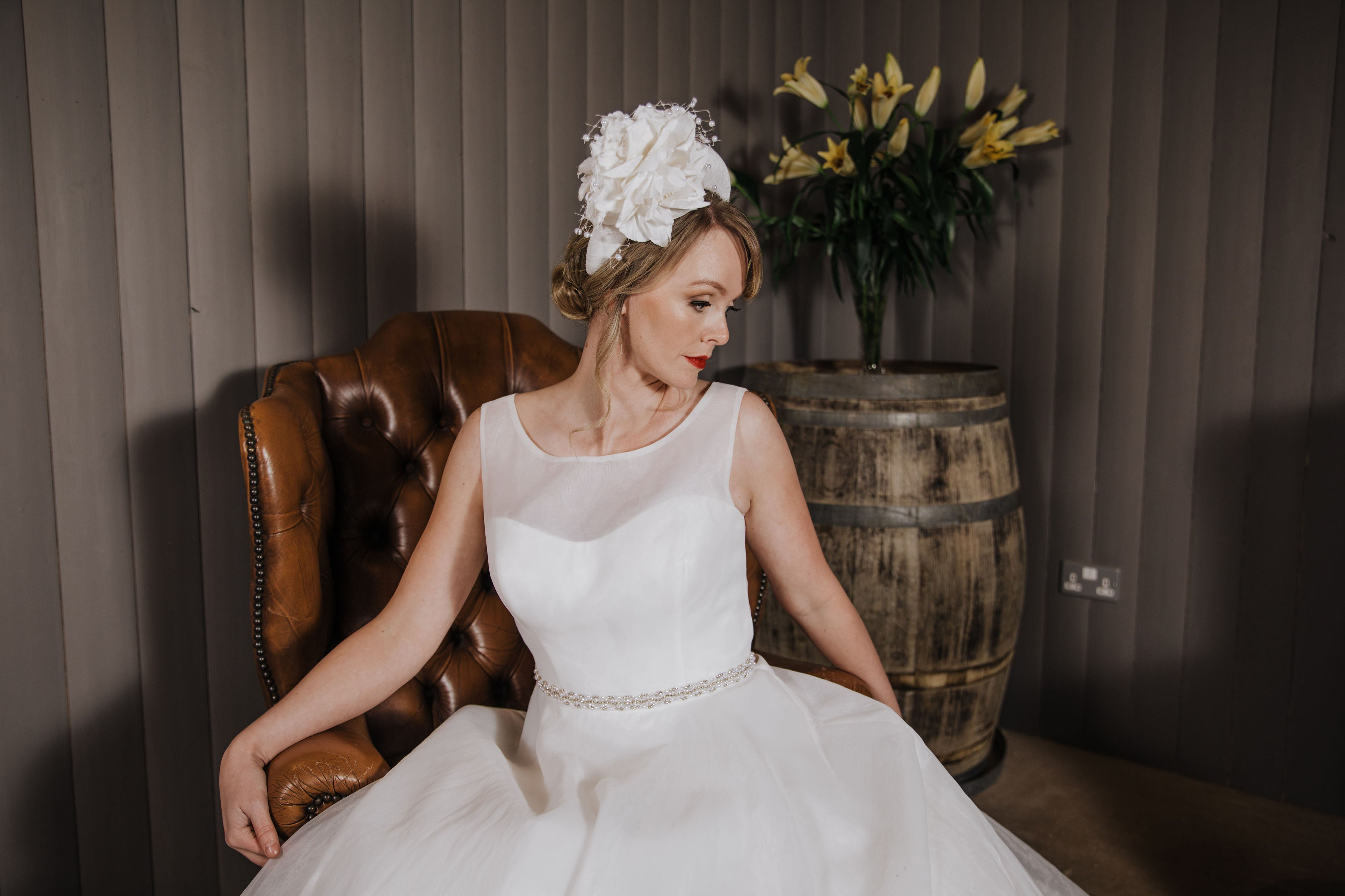 Ivory Silk Floral Bridal Crown