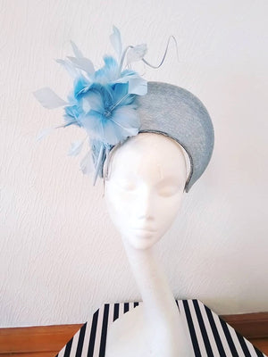 Cornflower Blue Feather Crown Headpiece