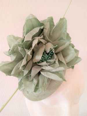 Mint Green Floral Fascinator