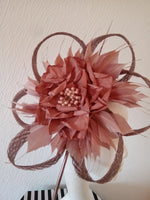 Rose gold looped fascinator