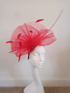 Red Crinoline Fascinator