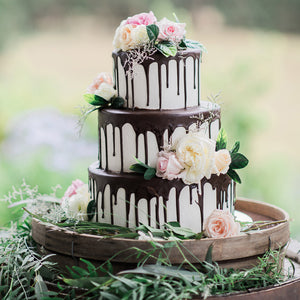 3 Tier Drizzle and Flowers