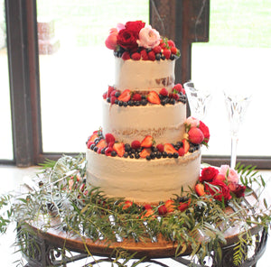 3 Tier Semi Naked with Berries