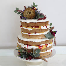 Load image into Gallery viewer, Naked Cake with Flowers