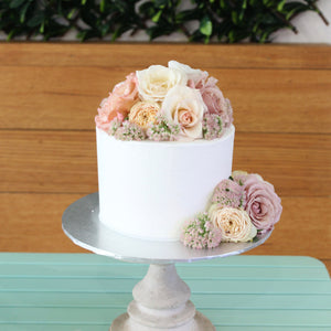 Buttercream Iced With Fresh Flowers
