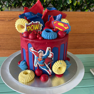 Superhero's Party Cake