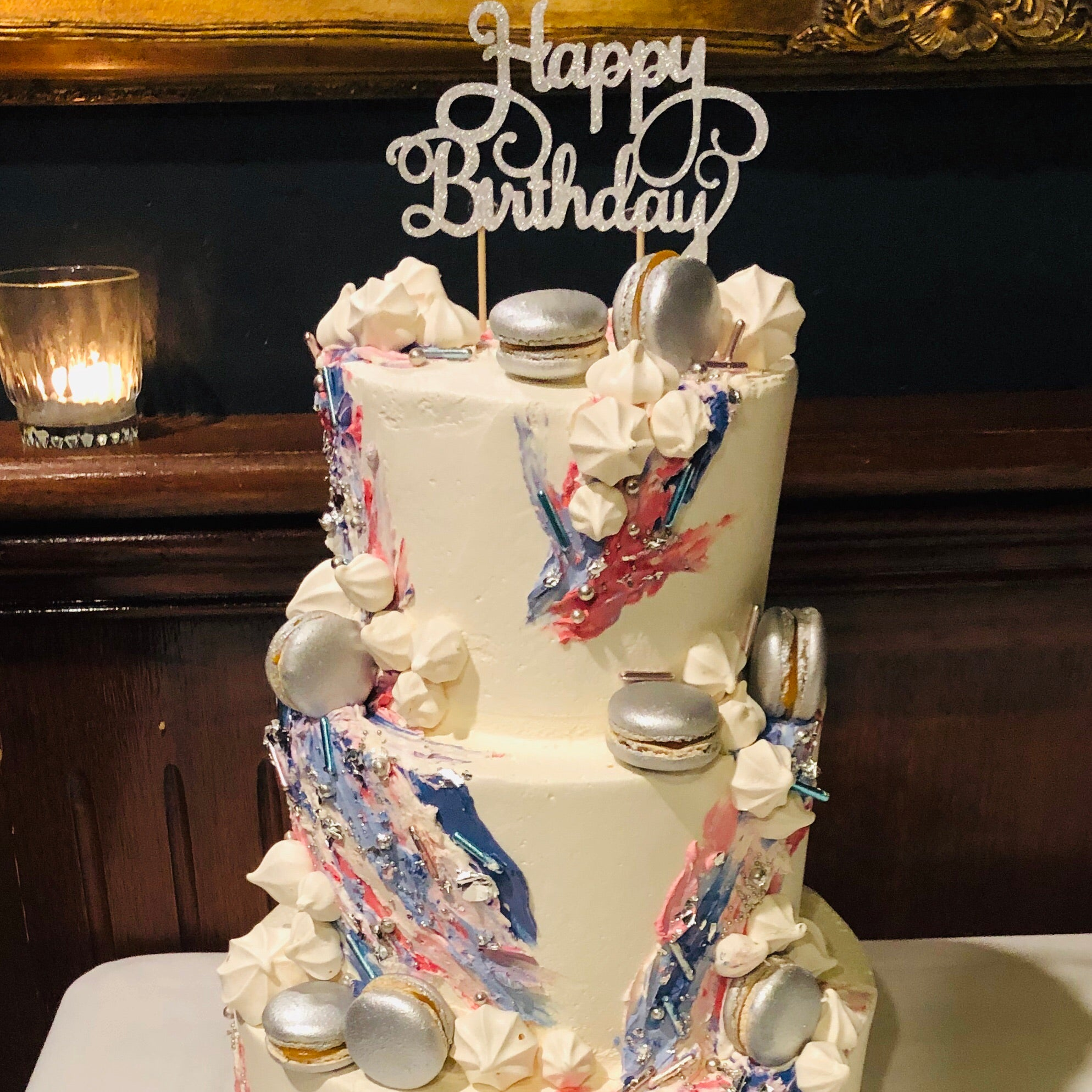 Gluten Free Painted Buttercream cake