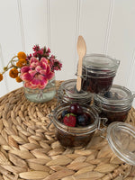 Mix berry brownie dessert jars