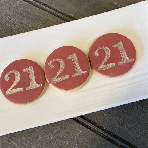 "Number cookie ""21"""