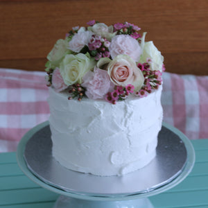 Gluten Free Buttercream Iced With Fresh Flowers