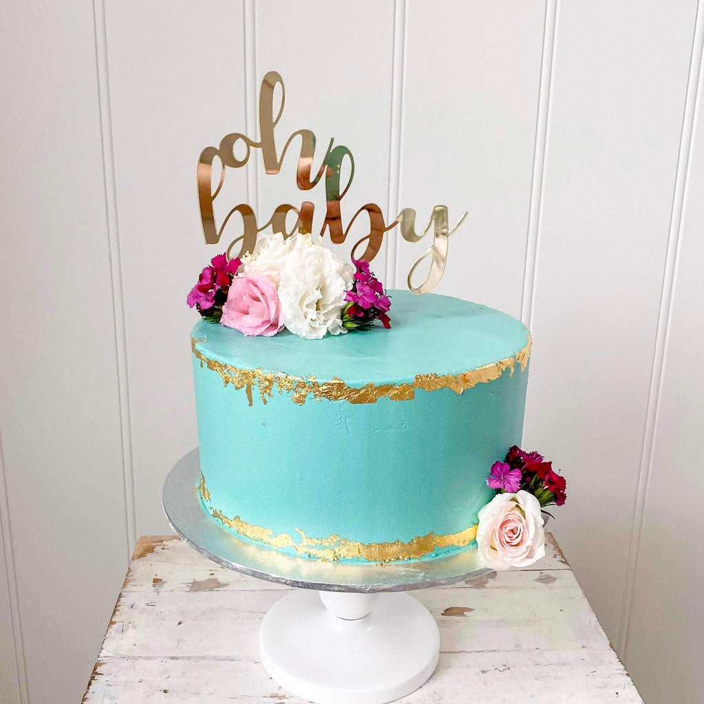 Design Your own- Buttercream smooth with metallic edge