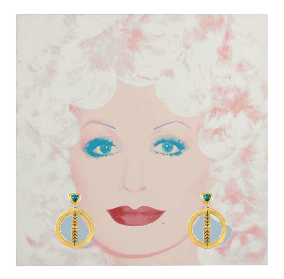 Dolly Parton in Bluestem Earrings