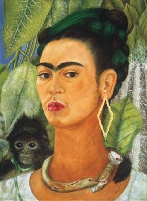 Frida Kahlo in Diamond Back Earrings