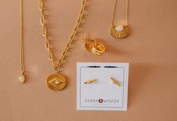 Sierra Winter Jewelry gold and opal jewelry