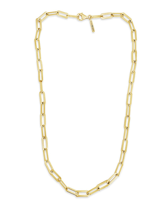 the hank gold link chain necklace