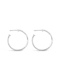 9 A.M. Hoop Earrings in Silver