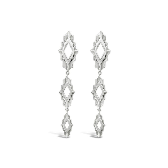 sierra winter sterling silver astra drop earrings