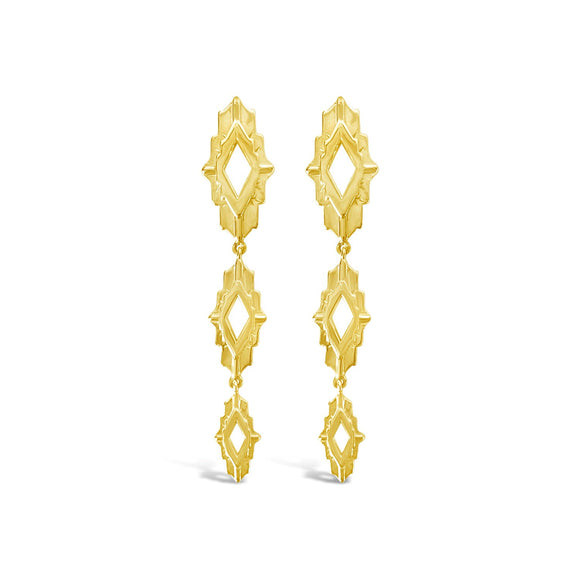 sierra winter gold vermeil astra drop statement earrings
