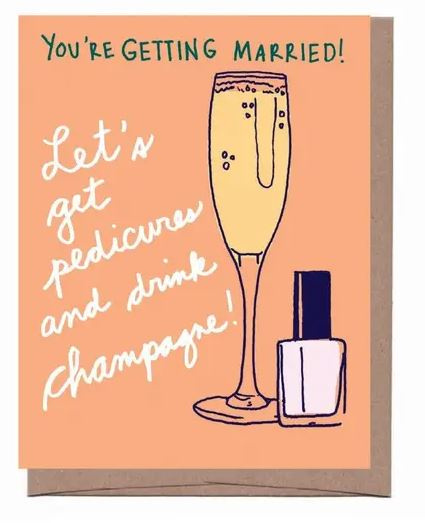 Champagne Bridal Card
