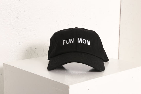 Fun Mom Hat in Black