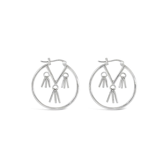 sierra winter sterling silver honky tonk tassel hoop earrings