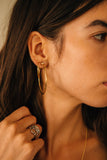 9 A.M. Hoop Earrings in Gold
