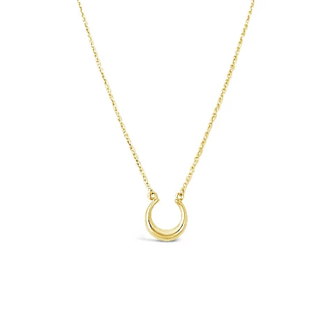 gold horseshoe luck necklace