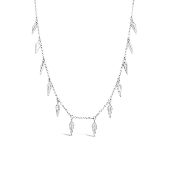 dainty silver kite necklace