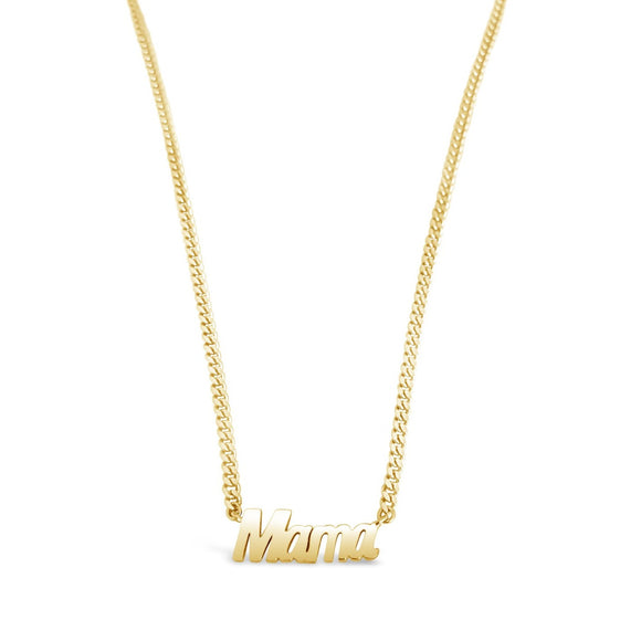 gold thick chain mama necklace