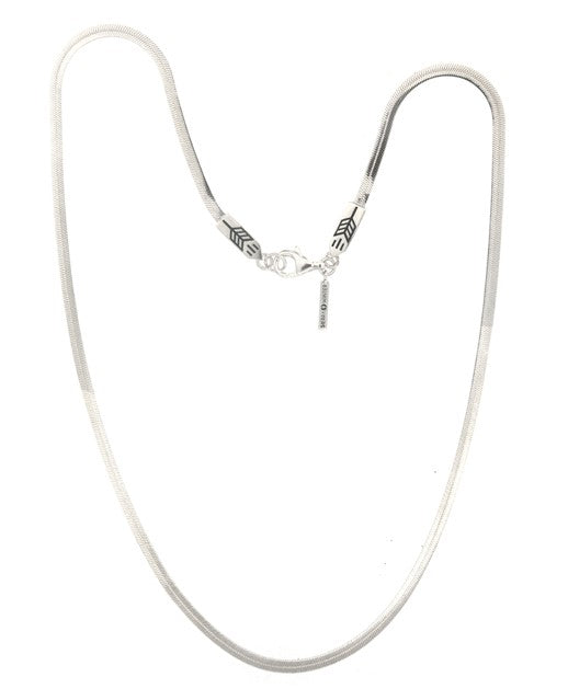 sleek silver snake chain necklace