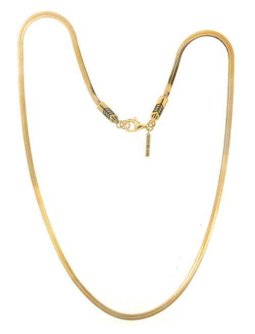 sleek gold snake chain necklace