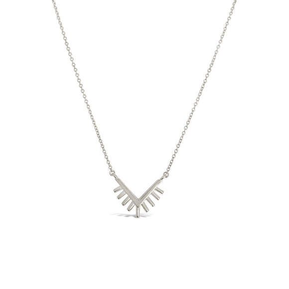 silver sunrise necklace dainty
