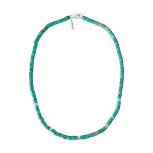 sierra winter turquoise sterling silver beaded paloma necklace