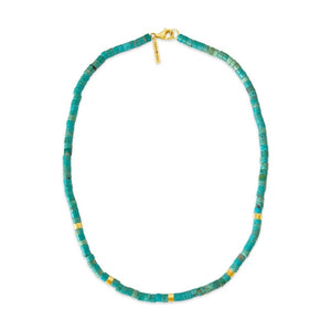 sierra winter turquoise gold vermeil beaded paloma necklace