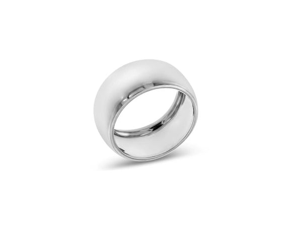 thick sterling silver band ring