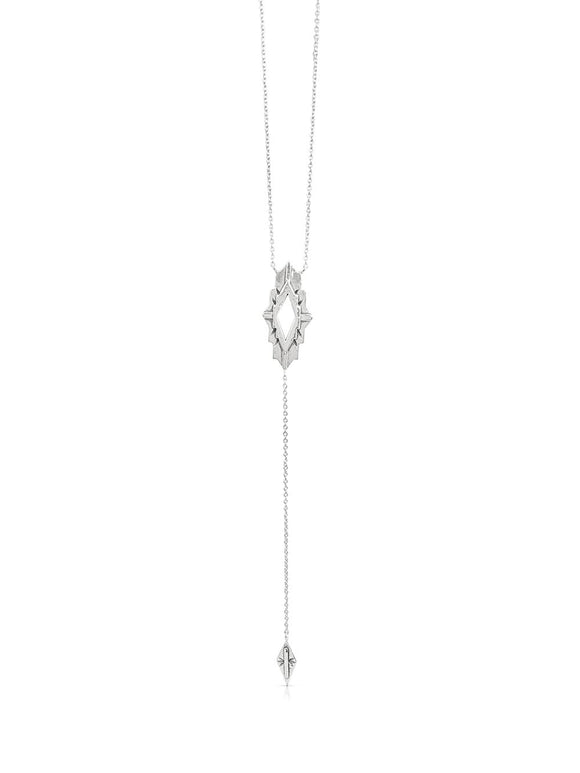Astra Silver Lariat Necklace
