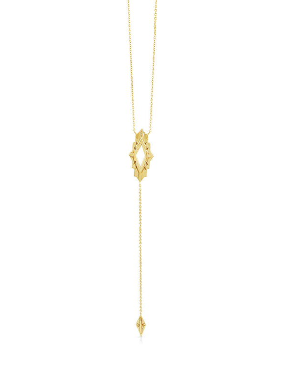 Astra Gold Lariat Necklace