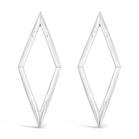 diamond back silver statement earrings